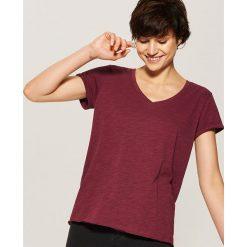 T-shirt basic - Bordowy. Niebieskie t-shirty damskie marki House, m. Za 19,99 zł.