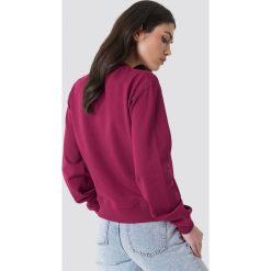 NA-KD Bluza Good Vibes - Purple. Fioletowe bluzy rozpinane damskie NA-KD, z napisami. Za 100,95 zł.