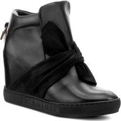 Sneakersy CARINII - B4096 E50-360-000-B88. Czarne sneakersy damskie Carinii, z materiału. W wyprzedaży za 289,00 zł.