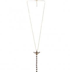 Długi naszyjnik z owadem QUIOSQUE. Szare naszyjniki damskie QUIOSQUE, srebrne. Za 69,99 zł.