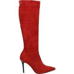 Kozaki - 1945 CAM ROSS. Czerwone buty zimowe damskie Venezia, ze skóry. Za 529,00 zł.