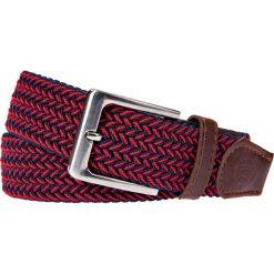 Pasek Czerwony Pleciony Braid. Czerwone paski męskie LANCERTO, w paski, z bawełny, casualowe. Za 89,90 zł.