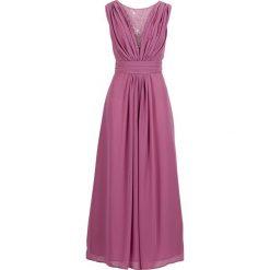 Długa sukienka bonprix matowy jeżynowy. Fioletowe długie sukienki marki bonprix, z dekoltem w serek, z długim rękawem. Za 189,99 zł.