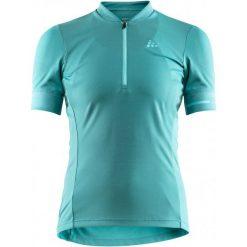 Craft Koszulka Rowerowa Damska Point, Jasnozielony Xl. Zielone bluzki sportowe damskie Craft, m, z klasycznym kołnierzykiem. W wyprzedaży za 149,00 zł.