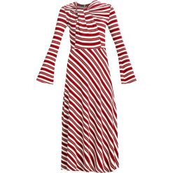 Długie sukienki: Finery London MERIVALE STRIPE DRESS Długa sukienka red