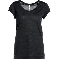 Topy sportowe damskie: Icebreaker SPHERE SCOOP Tshirt basic black heather