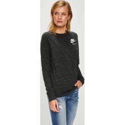 Nike Sportswear - Bluzka. Czarne bluzki z odkrytymi ramionami Nike Sportswear, m, z bawełny, z okrągłym kołnierzem. Za 199,90 zł.