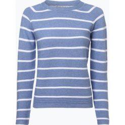 Marie Lund - Sweter damski, niebieski. Niebieskie swetry klasyczne damskie Marie Lund, xxl, z kontrastowym kołnierzykiem. Za 79,95 zł.