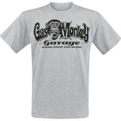 T-shirty męskie z nadrukiem: Gas Monkey Garage Hands T-Shirt szary
