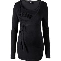 Sweter ciążowy i do karmienia bonprix czarny. Czarne swetry klasyczne damskie bonprix, z okrągłym kołnierzem, moda ciążowa. Za 99,99 zł.