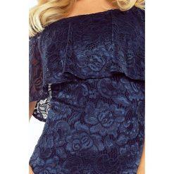 Luisa Sukienka koronkowa - hiszpanka - GRANAT. Niebieskie sukienki hiszpanki marki morimia, s, z koronki, z dekoltem typu hiszpanka. Za 198,00 zł.