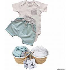 Body niemowlęce: Komplet szorty baggy + body 2 pack niebieski