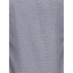 KOSZULA MĘSKA Z DŁUGIM RĘKAWEM K408 - BIAŁA/CZARNA. Brązowe koszule męskie marki Ombre Clothing, m, z aplikacjami, z kontrastowym kołnierzykiem, z długim rękawem. Za 59,00 zł.