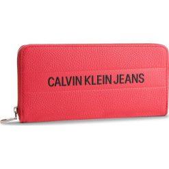 Duży Portfel Damski CALVIN KLEIN JEANS - Logo Banner Large Ziparound K40K400840 634. Czerwone portfele damskie marki Calvin Klein Jeans, z jeansu. Za 299,00 zł.