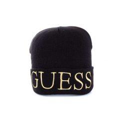 Czapki Guess  AW7871WOL01. Czarne czapki zimowe damskie Guess. Za 179,35 zł.