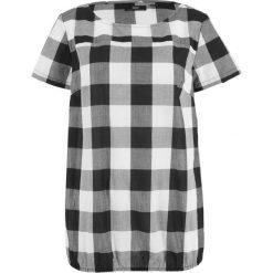 Bluzki damskie: Bluzka z gumką bonprix czarno-biały w kratę