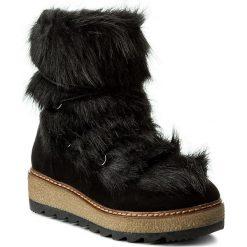 Botki TAMARIS - 1-26424-29 Black 001. Szare buty zimowe damskie marki Tamaris, z materiału. W wyprzedaży za 229,00 zł.