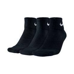 Skarpety Nike 3PPK Cushion Quarter (SX4703-001). Czarne skarpetki męskie Nike, z bawełny. Za 29,99 zł.