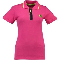 """Bluzki damskie: Koszulka polo """"Kwartz"""" w kolorze różowym"""