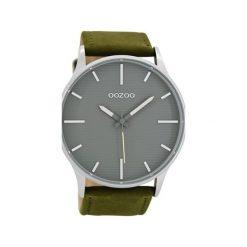Zegarek OOZOO C8553 greengrey/grey. Zielone, analogowe zegarki męskie Moderntime, metalowe. Za 239,00 zł.