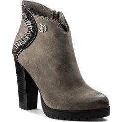 Botki EVA MINGE - Agueda 2J 17SM1372218EF 409. Szare buty zimowe damskie Eva Minge, z nubiku. W wyprzedaży za 249,00 zł.