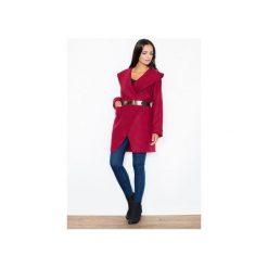 Płaszcz M407 Bordo. Czerwone płaszcze damskie pastelowe FIGL, m, eleganckie. Za 219,00 zł.