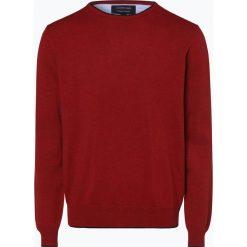 Andrew James - Sweter męski, czerwony. Czerwone swetry klasyczne męskie Andrew James, l, prążkowane, z kontrastowym kołnierzykiem. Za 149,95 zł.