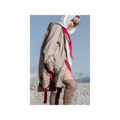 Parki damskie: Beige/Red parka coat