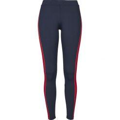 Spodnie damskie: Urban Classics Ladies Side Stripe Leggings Legginsy granatowy/biały/czerwony