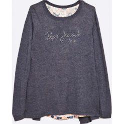 Pepe Jeans - Sweter dziecięcy 116-176 cm. Szare swetry dziewczęce Pepe Jeans, l, z dzianiny, z okrągłym kołnierzem. W wyprzedaży za 159,90 zł.
