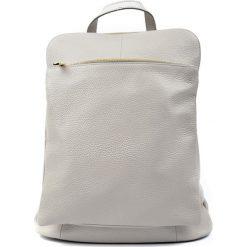 Plecaki damskie: Skórzany plecak w kolorze szarym – (S)36 x (W)30 x (G)13 cm