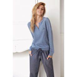 Piżamy damskie: Damska piżama Alice niebieska