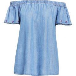 Bluzki, topy, tuniki: True Religion CARMEN  Bluzka vintage blue
