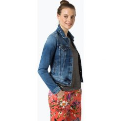 Bomberki damskie: Pepe Jeans - Damska kurtka jeansowa – Core, niebieski