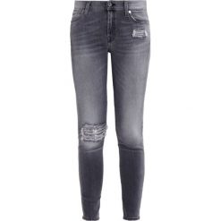 Rurki damskie: 7 for all mankind Jeansy Slim Fit washed grey sequinse