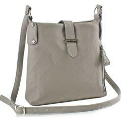 Torebki klasyczne damskie: Skórzana torebka w kolorze szarym – (S)27 x (W)27 x (G)8 cm