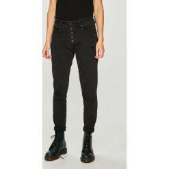 Answear - Jeansy. Czarne jeansy damskie marki ANSWEAR, z bawełny, z podwyższonym stanem. W wyprzedaży za 119,90 zł.
