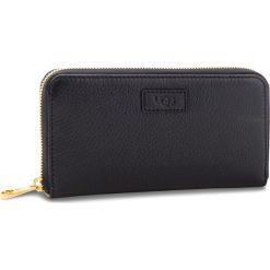 Portfele damskie: Duży Portfel Damski UGG - W Honey Zip Arnd Wallet Leather 1098634  Blk
