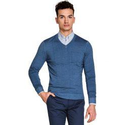 Sweter MARTINO SWNS000096. Niebieskie swetry klasyczne męskie Giacomo Conti, na lato, m, z wełny, dekolt w kształcie v. Za 229,00 zł.