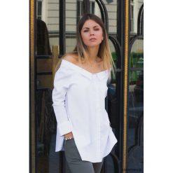 Koszula z odkrytymi ramionami. Białe koszule męskie na spinki marki Pakamera. Za 159,00 zł.