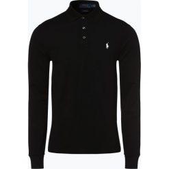 Polo Ralph Lauren - Męska koszulka polo – Slim fit, czarny. Czarne koszulki polo Polo Ralph Lauren, m, z długim rękawem. Za 529,95 zł.