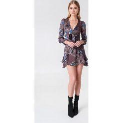 Sukienki: For Love & Lemons Sukienka Cleo Floral Party – Purple,Multicolor