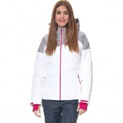 Kurtka narciarska w kolorze szaro-biało-różowym. Białe kurtki damskie marki CMP Women, m, z materiału. W wyprzedaży za 523,95 zł.