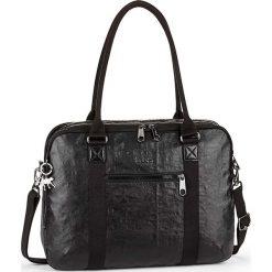 """Torba """"Neat"""" w kolorze czarnym na laptop - 39 x 30 x 12 cm. Czarne torby na laptopa marki Kipling, w paski, z materiału. W wyprzedaży za 318,95 zł."""