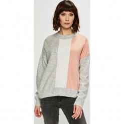 Trendyol - Sweter. Szare swetry klasyczne damskie Trendyol, l, z dzianiny, z okrągłym kołnierzem. Za 79,90 zł.