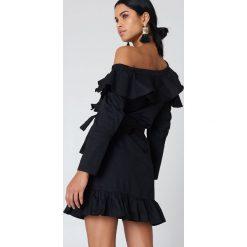Sukienki hiszpanki: Hot & Delicious Sukienka z wycięciami na ramionach – Black