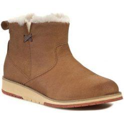 Buty EMU AUSTRALIA - Beach Mini W11026 Chestnut. Brązowe buty zimowe damskie marki NEWFEEL, z gumy. Za 559,00 zł.