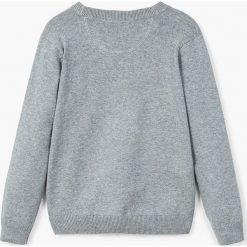 Mango Kids - Kardigan dziecięcy Nick2 104-152 cm. Szare swetry chłopięce marki Mango Kids, z bawełny. Za 69,90 zł.
