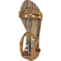 SANDAŁY CASU K6-30. Brązowe sandały damskie marki Casu. Za 39,99 zł.