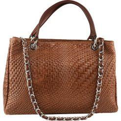 Torebki klasyczne damskie: Skórzana torebka w kolorze brązowym – 35 x 24 x 10 cm